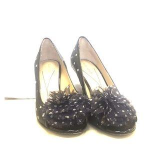 """kate spade Shoes - Kate Spade """"Molly"""" black + white peep toe heels"""